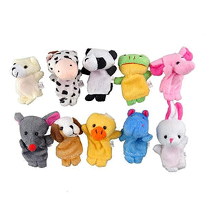 Guilty Gadgets 10x Farm Zoo Animal Finger Puppets Toys Boys Girls Babys Party Bag Filler - iBuy Africa