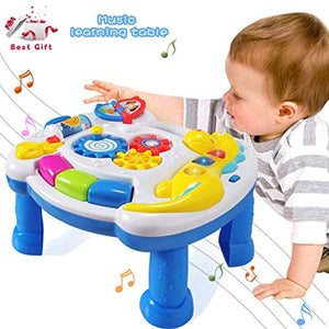 Baby Toys Musical Learning Table 12 to 18 Months up-Early Education Music Activity Center Game Table Toddlers,Infant,Kids Toys 1 2 3 Years Old Boys & Girls- Lighting & Sound - iBuy Africa