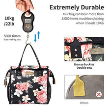 Load image into Gallery viewer, Kaome Lunch Bag Floral Print Large Insulated Cooler and Warmer - Tote Bag for Camping Travel School Waterproof Leakproof Food Box Cooler Bag (Pink) - iBuy Africa