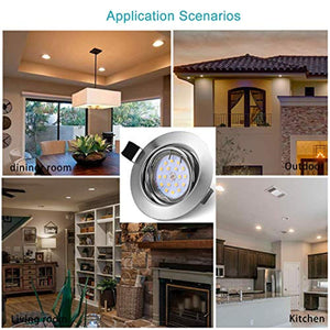 Downlights for Ceiling Gu10 Spotlights IP44, LED recessed Ceiling Light Modern 5 x 5W 220V 500LM 3000K CRI 83Ra 120°Beam Angle for Bathroom Living Room Bedroom Kitchen (LED Bulb Included) - iBuy Africa