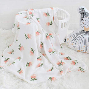 "Bamboo Muslin Swaddle Blankets- 3 Pack""Floral & Flamingo & Feather Print"" Baby Swaddle Wrap for Baby Shower Gift - iBuy Africa"