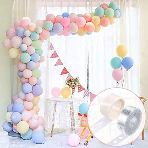 FRETOD Pastel Party Balloons 100Pcs Balloon Garland Kit with15M Balloon Chain, 100 Glue Dots Balloon Arch Garland for Wedding, Birthday, Gratulation Party - iBuy Africa