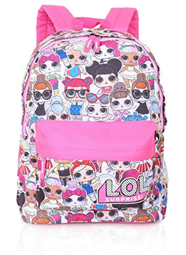 L.O.L. Surprise ! Backpack for Girls and Teens Featuring All-Over Dolls Print | Kids LOL Bag for School Or Travel, Pink Canvas Girls Rucksack with Front Pocket | Great Birthday Gift Idea - iBuy Africa