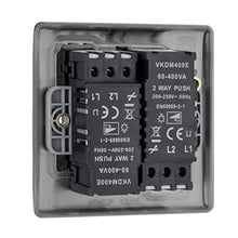Load image into Gallery viewer, BG Electrical Double Dimmer Light Switch, Black Nickel, 2-Way, 400 Watts - iBuy Africa