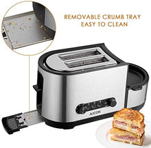 Load image into Gallery viewer, Toaster, Aicok 5-in-1 Toaster with Egg Boiler and Poachers, 2 Slice Toaster with Mini Frying Pan, Steamer - iBuy Africa