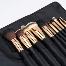 Load image into Gallery viewer, Fancii Professional Makeup Brush Collection, 11 Pcs Set High End Cosmetic Brush with Leather Travel Clutch, Cruelty Free Synthetic Bristles, Luxury Gold Limited Edition (Aria) - iBuy Africa
