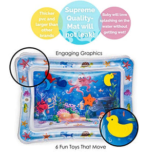 Splashin'kids Inflatable Tummy Time Premium Water mat Infants & Toddlers is The Perfect Fun time Play Activity Center Your Baby's Stimulation Growth - iBuy Africa