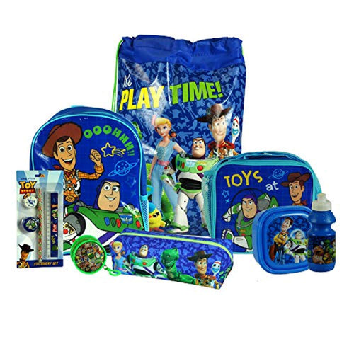 Toy Story 8PC Back to School Bundle - inc Backpack, Drawstring Sports Bag, Insulated Lunch Bag, Sandwich Box, Water Bottle, Coin Pouch, Pencil Case & Stationery Set. - iBuy Africa
