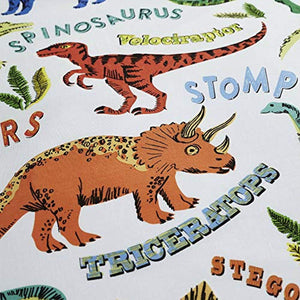 Happy Linen Company Childrens Boys Girls Dinosaur Park Jurassic T-Rex Dino Green Reversible Bedding Duvet Cover Set - iBuy Africa