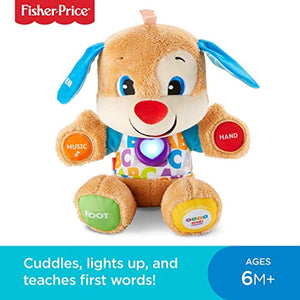 Fisher-Price FPM43 Smart Stages Puppy, Laugh and Learn Soft Educational Electronic Toddler Learning Toy with Music and Songs, Suitable for 6 Months+ - iBuy Africa