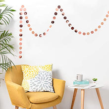 Load image into Gallery viewer, Whaline 52 Feet Reflective Round Paper Garland Sparkling Round Bunting Banner for Wedding Birthday Party Holiday Decorations, 2.75 Inches (Rose Gold) - iBuy Africa