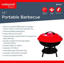 Load image into Gallery viewer, Hamble Redwood Leisure 14-inch Portable Barbecue - Red - iBuy Africa