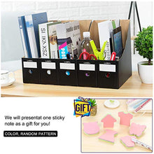 Load image into Gallery viewer, HINATAA File Magazine Holder,5 PCS Kraft Paper Magazine Rack Files Folder,Storage Organiser Sorter Storage Shelf Excellent for School Dormitory,Office,Home Files Storage (Black) - iBuy Africa