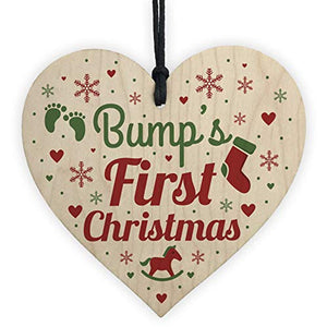 Bumps First Christmas Heart Decoration Wooden Christmas Tree Baubles - iBuy Africa