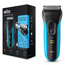 Load image into Gallery viewer, Braun Series 3 ProSkin 3040s Electric Shaver, Wet and Dry Electric Razor for Men with Pop Up Precision Trimmer, Rechargeable and Cordless Shaver, Black/Blue - iBuy Africa