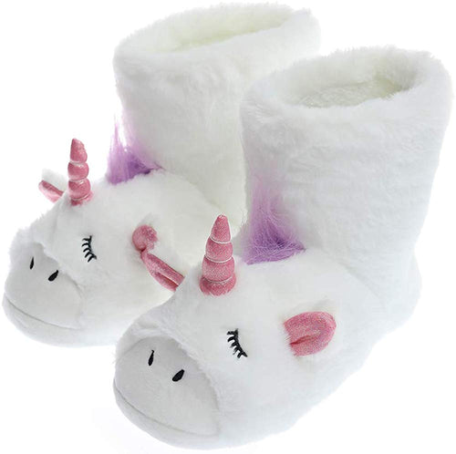Unicorn Slippers | Indoor Outdoor Sneakers | Cozy Plush Shoes Woman Slippers | Cute Fluffy Girls Slippers - iBuy Africa