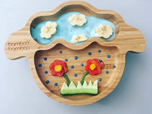 Load image into Gallery viewer, Baby Toddler Little Lamb Suction Plate, Stay Put Feeding Plate, Natural Bamboo (Cherry) - iBuy Africa