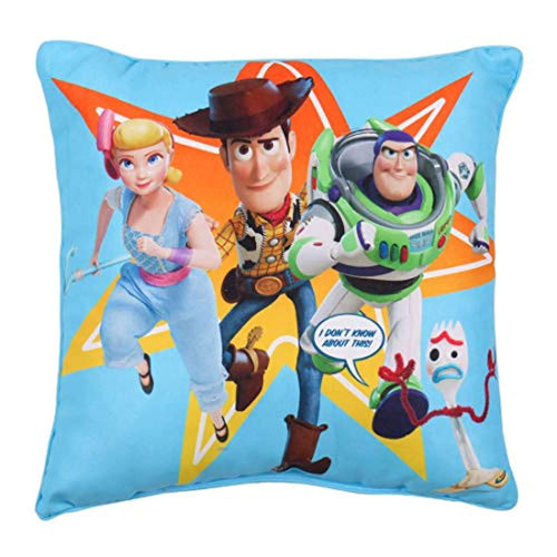 Toy Story 4 Square Cushion Pillow | Officially Licensed Super Soft Two Sided Buzz Lightyear Woody Design - iBuy Africa