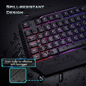 PICTEK Gaming Keyboard, Wired USB Computer Keyboard LED Backlit (UK Layout) - iBuy Africa