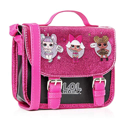 L.O.L. Surprise! LOL Dolls Handbag For Girls Featuring Glitterati Doll Unicorn, Diva, Queen Bee | Black & Pink Kids Handbag Crossbody | Children Cross Body Bag | Fashion Shoulder Bags For Kids- Kids Luggage - iBuy Africa