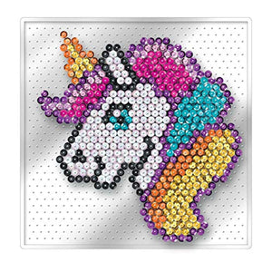 Mammut 8331830 Art Picture, Unicorn, Easy, NO PINS, Complete Set with Plastic Plate, Image Template, Sequins, Picker, Stand, Instructions, Age 4 Years and Up, Colourful - iBuy Africa