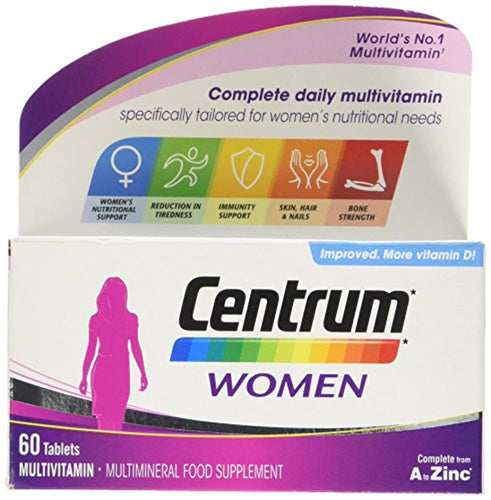 Centrum Pfizer, Multivitamin Tablets for Women, 60 Tablets - iBuy Africa