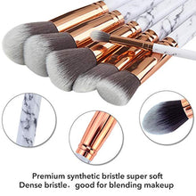 Load image into Gallery viewer, Make Up Brushes DUAIU 15Pcs Professional Premium Synthetic Eyeshadow Concealer Eyebrow Powder Cream Liquid Blending with Marble Cosmetic Bag - iBuy Africa