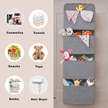 Load image into Gallery viewer, MaidMAX Over Door Storage, Wall Hanging Storage Organiser for Wardrobe, Nursery, Bedroom, Office, 4 Pockets, Grey - iBuy Africa