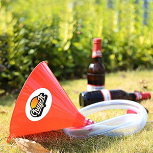 CHUGIT Beer Bong Funnel with Stop Tap - Extra Thick Kink-Free Tube, Perfect for Parties, Drinking Games for Students, Beer Gifts, Birthday Gifts - iBuy Africa
