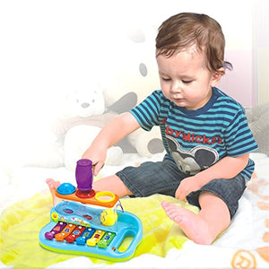 Early Education 18 M+ Olds Baby Toy Enlighten Xylophone with 3 Color Balls/Small Hammer for Children & Kids Boys and Girls - iBuy Africa