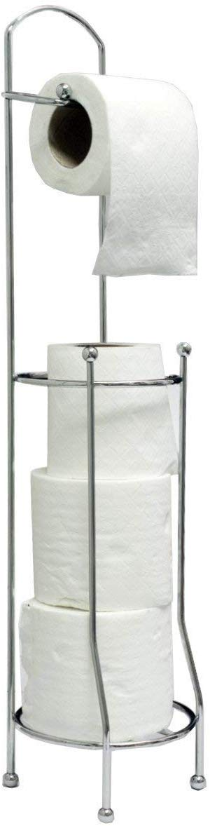 Chrome Toilet Roll Holder Stand (Square) - iBuy Africa