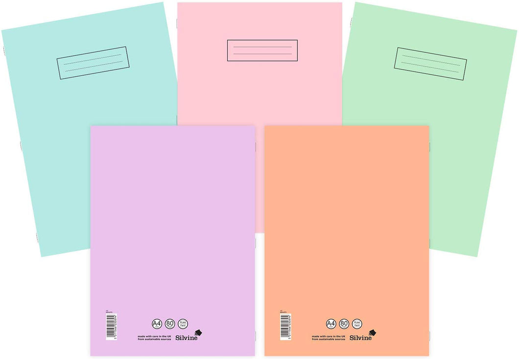 Silvine A4 Notebooks Assorted Pastel Colours (Pack of 10) A4 - iBuy Africa