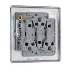 Load image into Gallery viewer, BG Electrical Triple Light Switch, Brushed Steel, 2-Way, 10AX - iBuy Africa