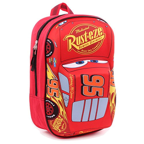 Disney Lightning McQueen 'Piston Cup Champion' 3D Effect Car 31cm Backpack- Kids Luggage - iBuy Africa