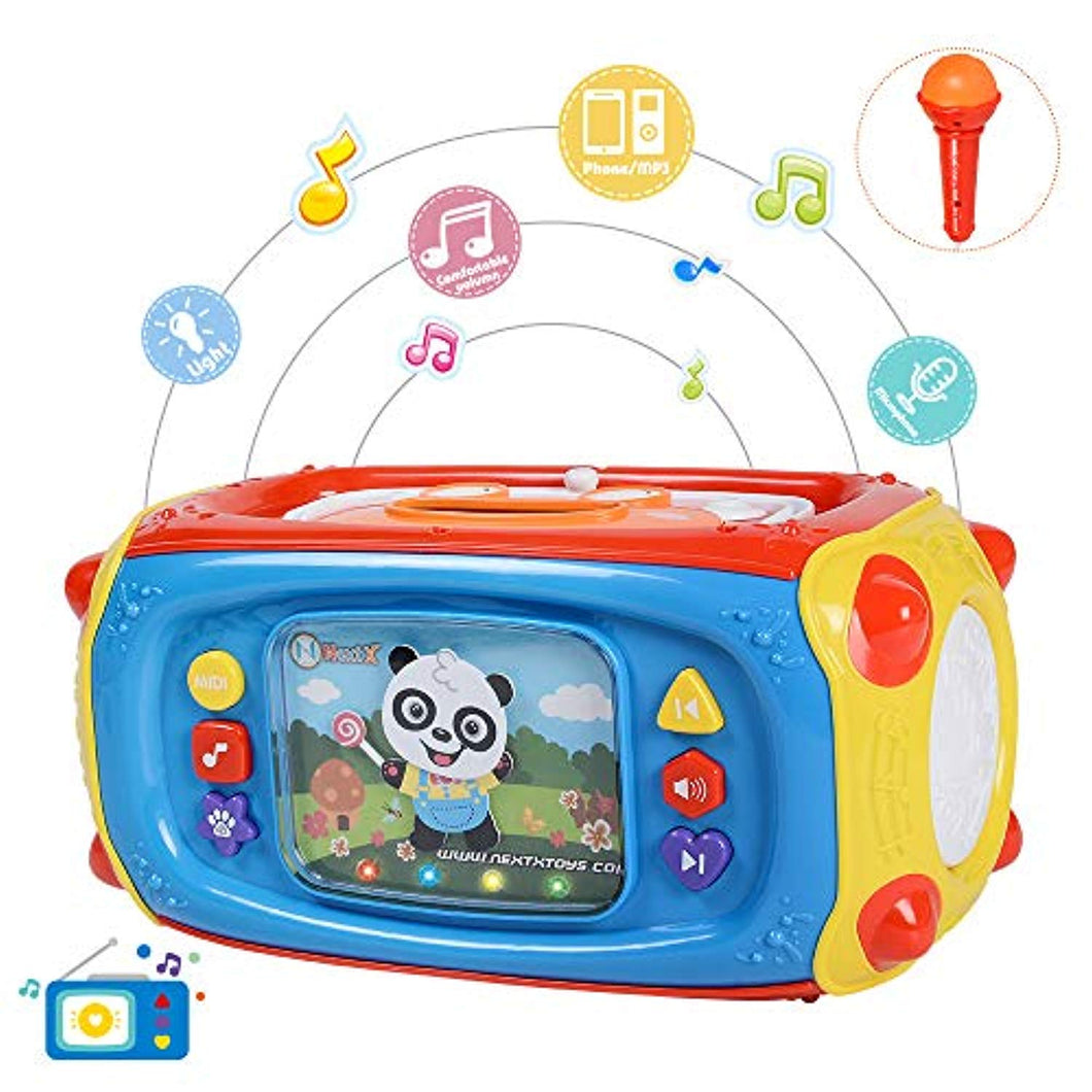 NextX Baby Musical Player Toddler Learning Activity Toys With Microphone, 41 songs & lights - Great Gift Toys for Children & Kids Boys and Girls - iBuy Africa