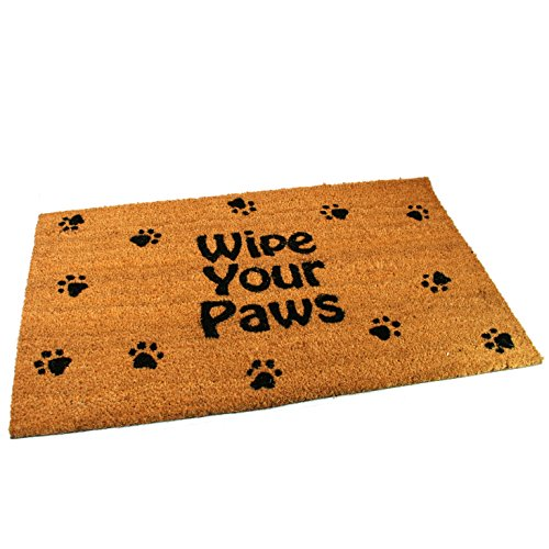Black Ginger Large, Thick, Decorative, Patterned Coir Door Mats with Nature Designs Wipe Your Paws - iBuy Africa