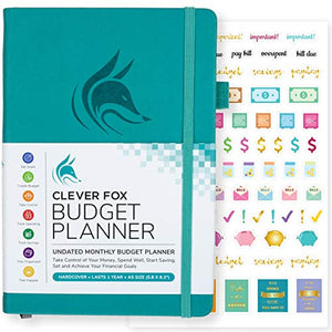 Clever Fox Budget Planner - Expense Tracker Notebook. Monthly Budgeting Journal, Finance Planner & Accounts Book to Take Control of Your Money. Undated - Start Anytime. A5 Size, Rose Gold Hardcover - iBuy Africa