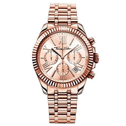 Thomas Sabo Women's Watch Divine Chrono Rose Gold Analogue Quartz - iBuy Africa