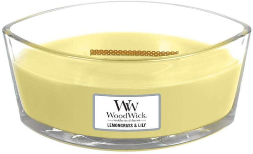 WoodWick Ellipse Scented Candle with Crackling Wick | Willow | Up to 50 Hours Burn Time Lemongrass & Lily - iBuy Africa