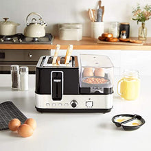 Load image into Gallery viewer, VonShef 5 in 1 Toaster, Egg Boiler & Poacher, Breakfast Multi-Cooker with Interchangeable Plates & Steamer Function - iBuy Africa