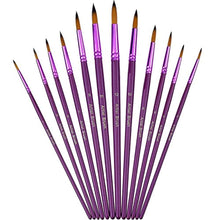 Load image into Gallery viewer, 12 Pieces Artist Paint Brushes Fine Paint Brush for Acrylic Watercolor Oil Painting, Purple - iBuy Africa