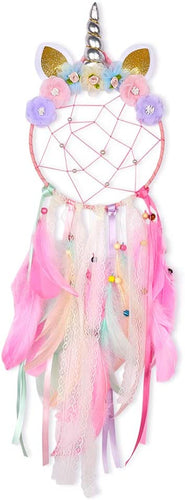 Basumee Unicorn Dream Catcher Wall Decor  Colorful Pink With Ring Top - iBuy Africa