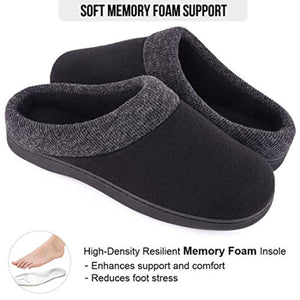 Men's Women's Comfort Slip On Memory Foam Slippers French Terry Lining House Slippers with Anti Slip Sole - iBuy Africa