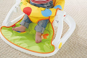 Fisher-Price DJD81 Giraffe Sit-Me-Up Floor Seat, Portable Baby Chair or Seat with Removable Tray, Rattle and Teething Toy - iBuy Africa