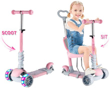 Load image into Gallery viewer, 5 In 1 Kids Kick Scooter,Adjustable Scooter for Toddlers 1-6 Years Old Boy and Girls Support 50 kg - iBuy Africa