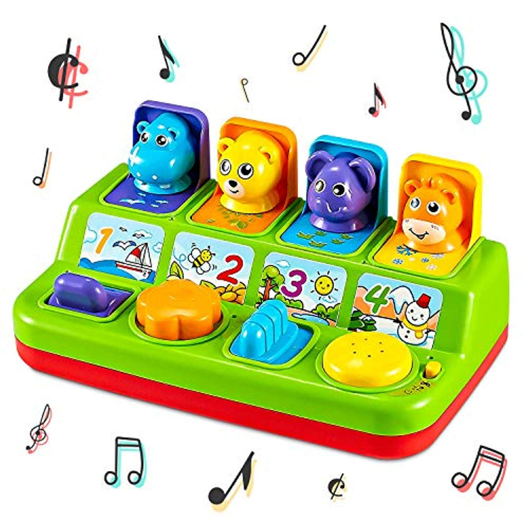 Think Gizmos Musical Pop Up Animal Toy For Toddlers - Interactive Musical Toys For 1 Year Olds + - iBuy Africa