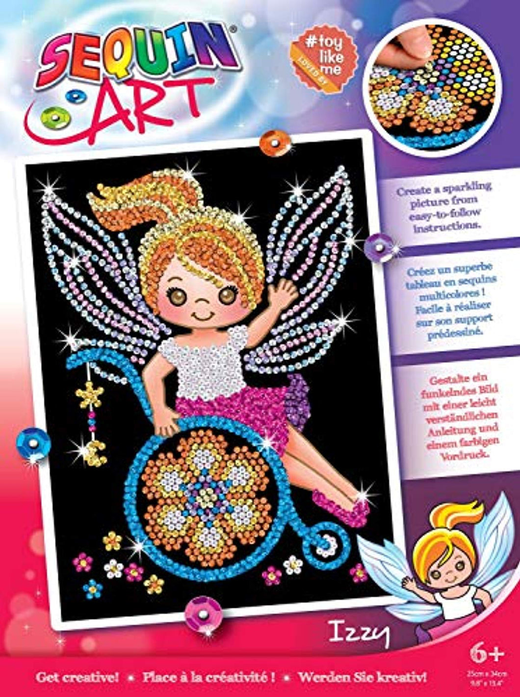 Sequin Art & Toy Like Me 1930 Izzy Fairy Craft Kit From The Red Range 28 x 37 cm - iBuy Africa