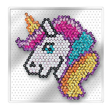 Load image into Gallery viewer, Mammut 8331830 Art Picture, Unicorn, Easy, NO PINS, Complete Set with Plastic Plate, Image Template, Sequins, Picker, Stand, Instructions, Age 4 Years and Up, Colourful - iBuy Africa