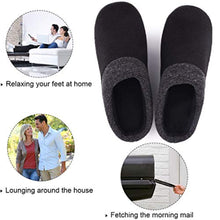 Load image into Gallery viewer, Men's Women's Comfort Slip On Memory Foam Slippers French Terry Lining House Slippers with Anti Slip Sole - iBuy Africa