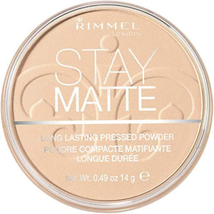 Rimmel London Stay Matte Pressed Powder, Shine Control Formula with Mineral Setting, Transparent, 14 g - iBuy Africa